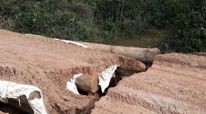 #Três pontes danificadas pelas chuvas são interditadas e prefeitura decreta situação de emergência em Tapurah (MT)