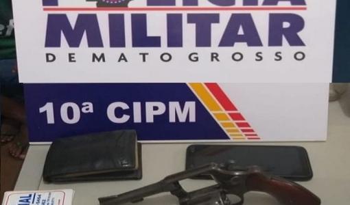 Polícia Militar realiza abordagem a suspeito em Aripuanã e apreende arma de fogo