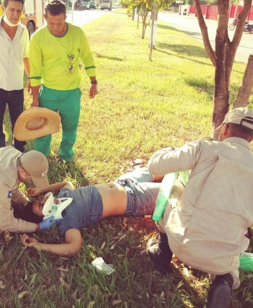 Motociclista fica ferido em acidente com automóvel em Juína