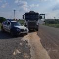 Carreta fruto de Assalto é Recuperada pela Polícia Militar em Castanheira