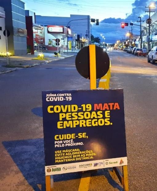 Campanha no trânsito de Juína chama atenção para o Coronavírus