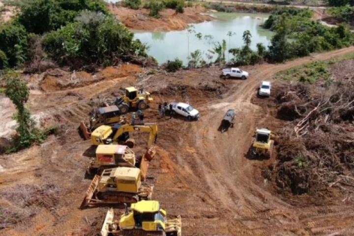 Polícia Civil e Sema flagram exploração de garimpo em desacordo com licença ambiental em MT