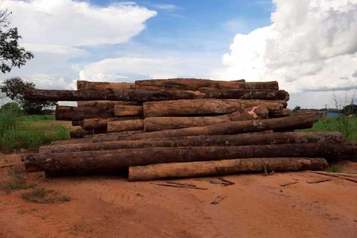 Sema doa madeira apreendida para construção de pontes em Itanhangá