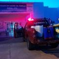 Em Juína bombeiros realizam desinfecção em unidades de saúde